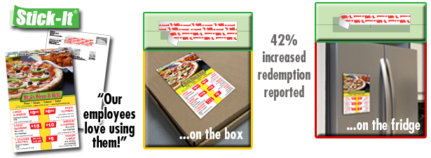 pizza boxtopper flyers