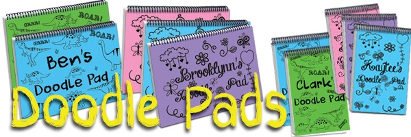 Personalized Notebook Doodle Pads