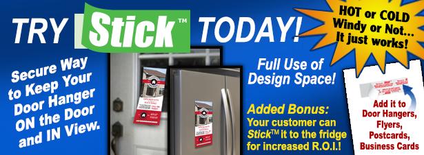 Stick Door Hangers for distribution  sc 1 st  Adeas Printing & Door Hangers that Stick are great for door hanger distribution