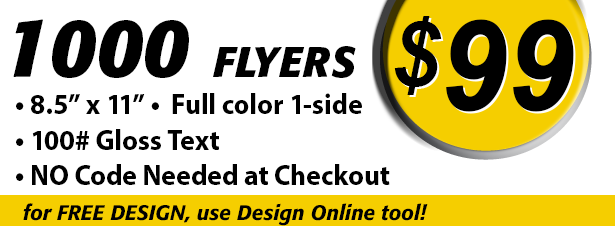 Full Color Flyers Special 1000 for 99