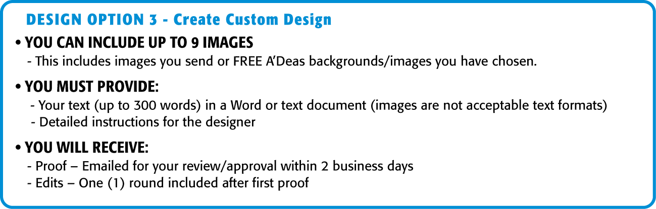 Graphic Design Services Option 2