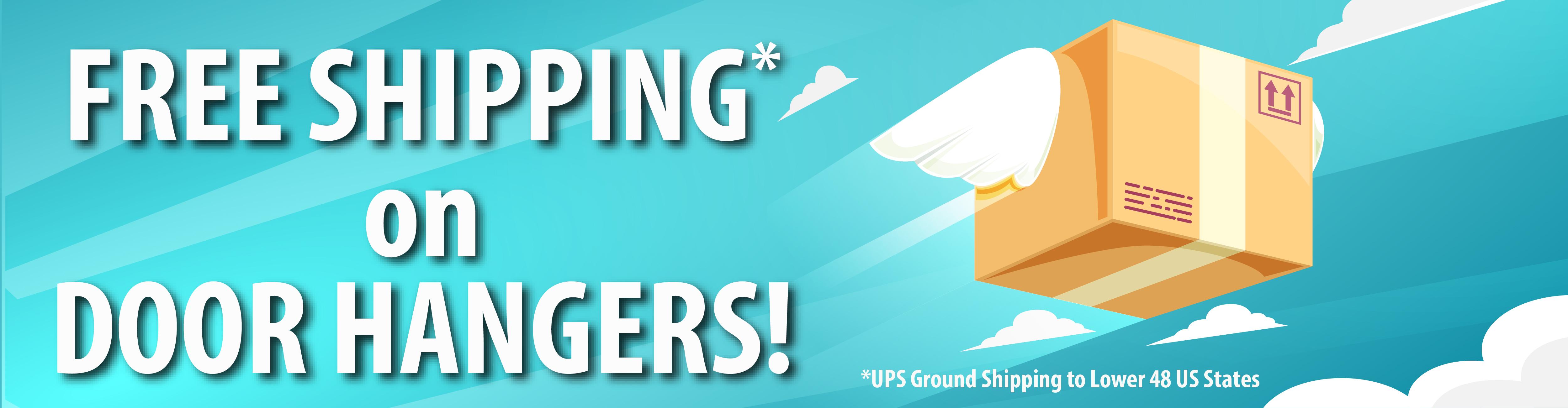 Free Shipping on Door Hangers
