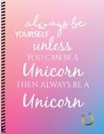 8.5x11 Rainbow Unicorn
