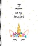 Notebook_Unicorn ate My Homework