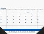 Calendar - Desk Pad DDP3A Blue & Black