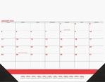 Calendar - Desk Pad DDP3C Red & Black
