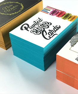 BUSINESS CARDS: Painted Edge