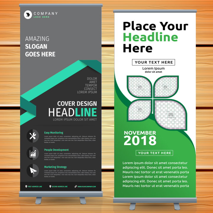 Tabpletop and Retractable Display Banner