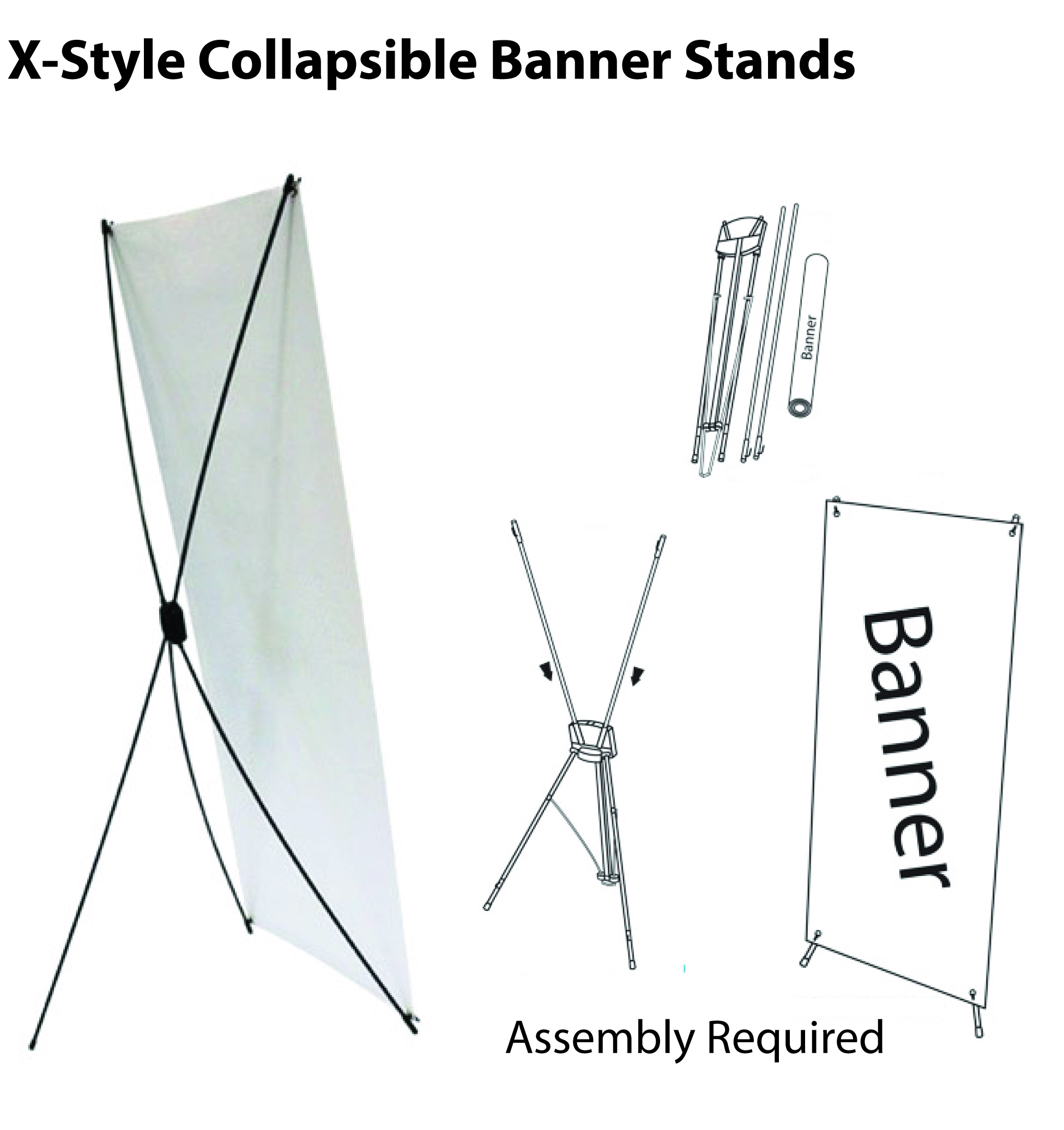 X-Style Collapsible Banner Stand