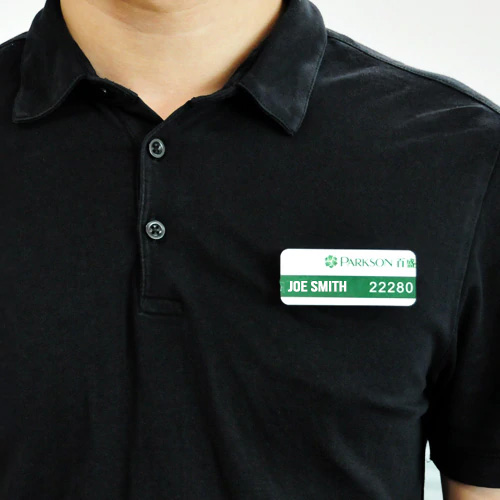 Name Badge on Shirt