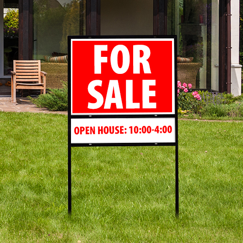 Real Estate Sign Single Rider