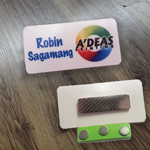 Name Badge with Magnetic Backing