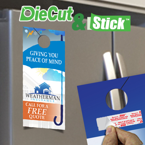 Door Hanger Die Cut Hole & Stick